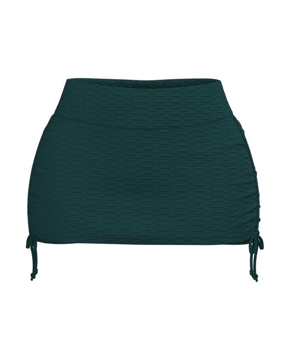 Textured Drawstring Side Sports Skirt gallery 5