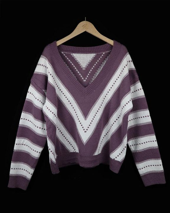 Colorblock Drop Shoulder Ribbed Knit Sweater gallery 6