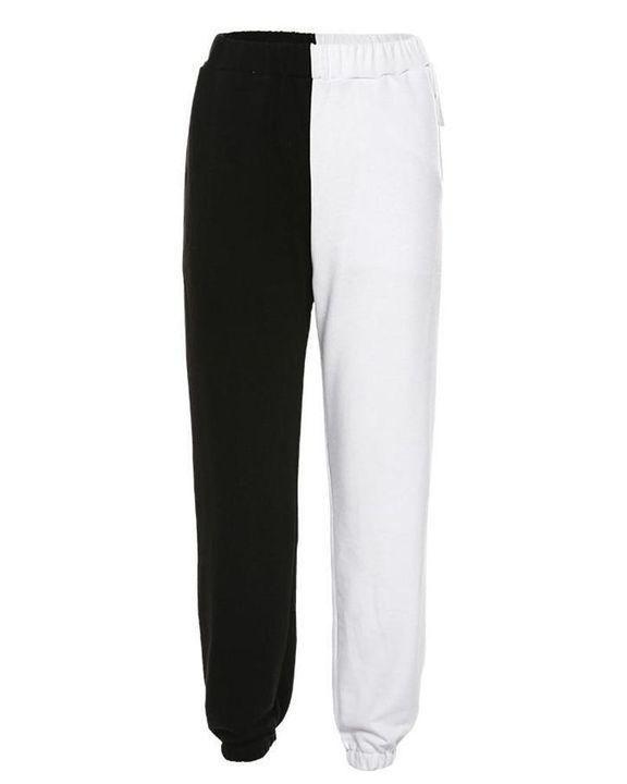 Slant Pokcet Elastic Waist Straight Leg Sports Pants gallery 4