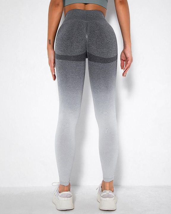Ombre Space Dye Seamless Butt Lifting Sports Leggings gallery 15