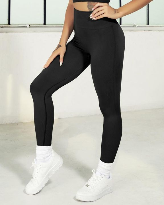 Ombre Wide Waistband Butt Lifting Sports Leggings gallery 8