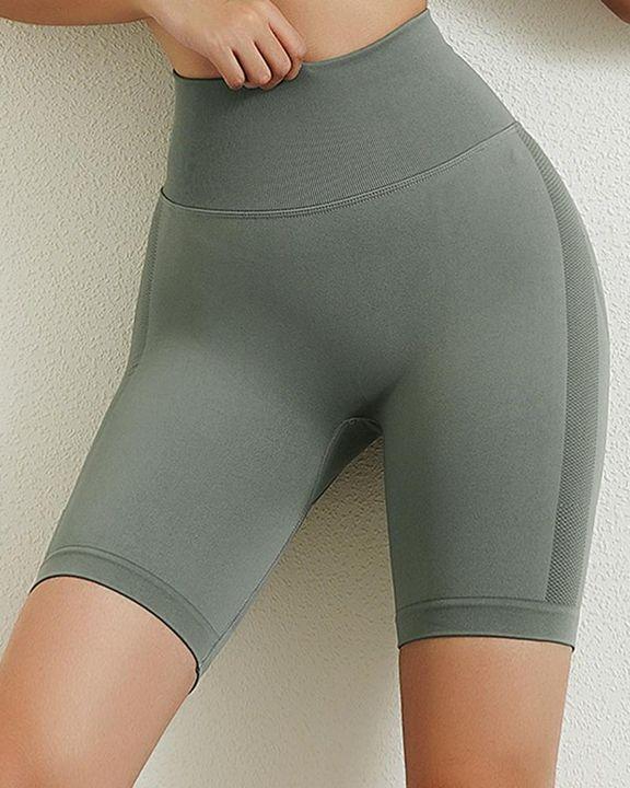Solid Butt Lifting High Waist Sports Shorts gallery 5