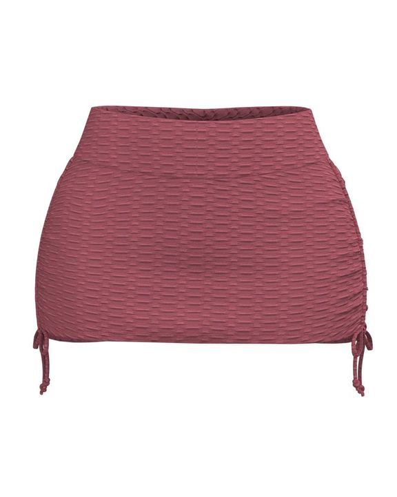 Textured Drawstring Side Sports Skirt gallery 7