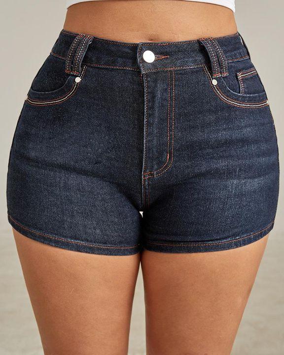 Vintage Butt Lifting Denim Shorts  gallery 4