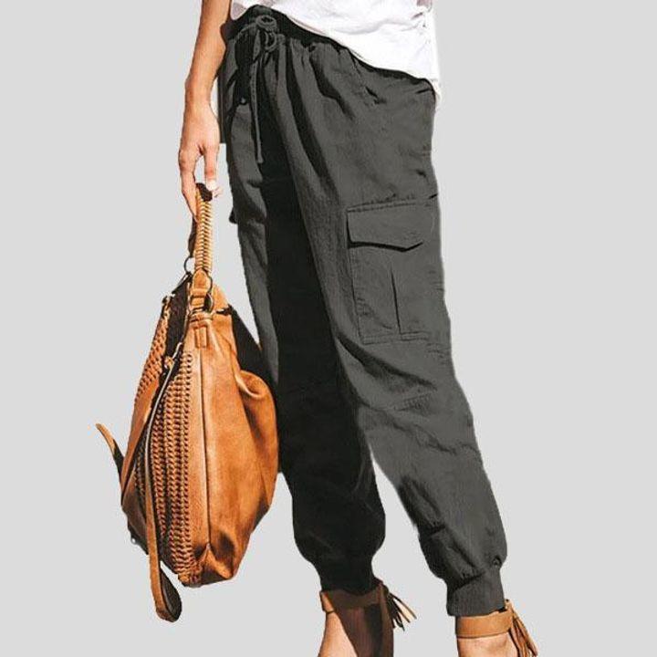 Drawstring Waist Flap Pocket Sports Pants gallery 6