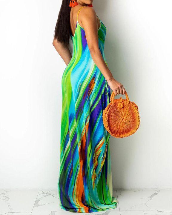 Allover Print Cami Maxi Dress gallery 4