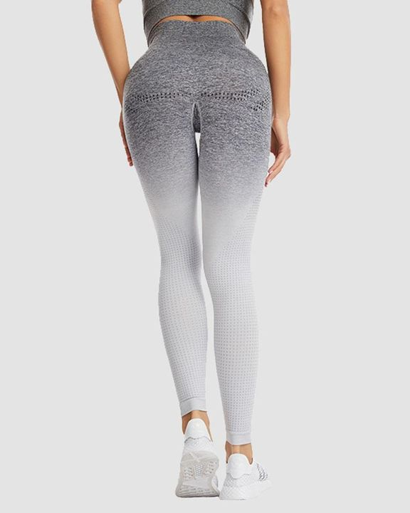 Ombre Breathable High Waist Butt Lifting Sports Leggings gallery 3