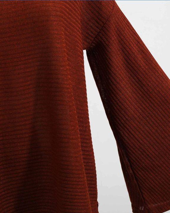 Solid Bell Sleeve Scoop Neck Sweater gallery 13