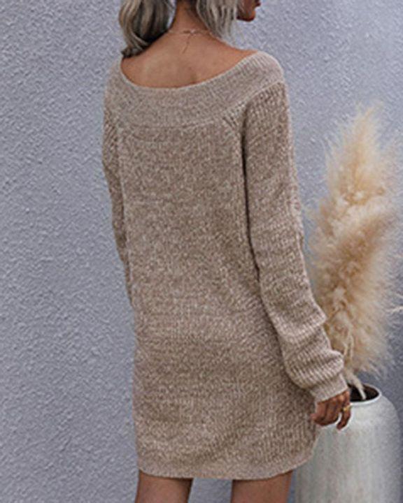 Drop Shoulder Oversized Sweater gallery 4