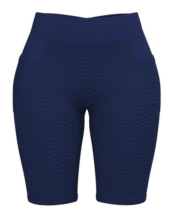 Textured Ruched Back Pocket Detail Sports Shorts gallery 10