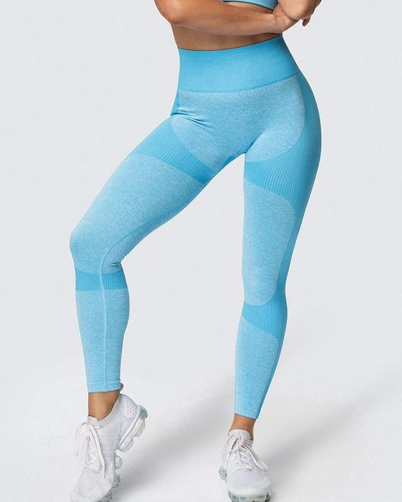 Space Dye Butt Lifting Seamless Absorbs Sweat Sports Leggings gallery 8