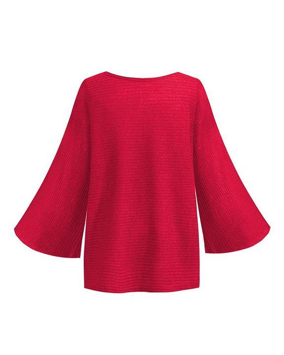 Solid Bell Sleeve Scoop Neck Sweater gallery 8