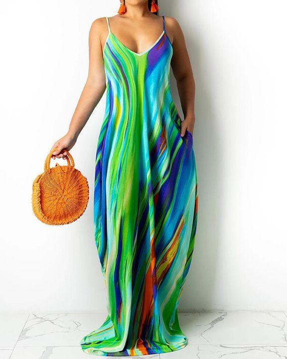 Allover Print Cami Maxi Dress gallery 2