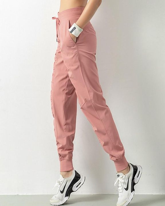 Quick Dry Drawstring Waist Ruched Front Sports Pants gallery 3