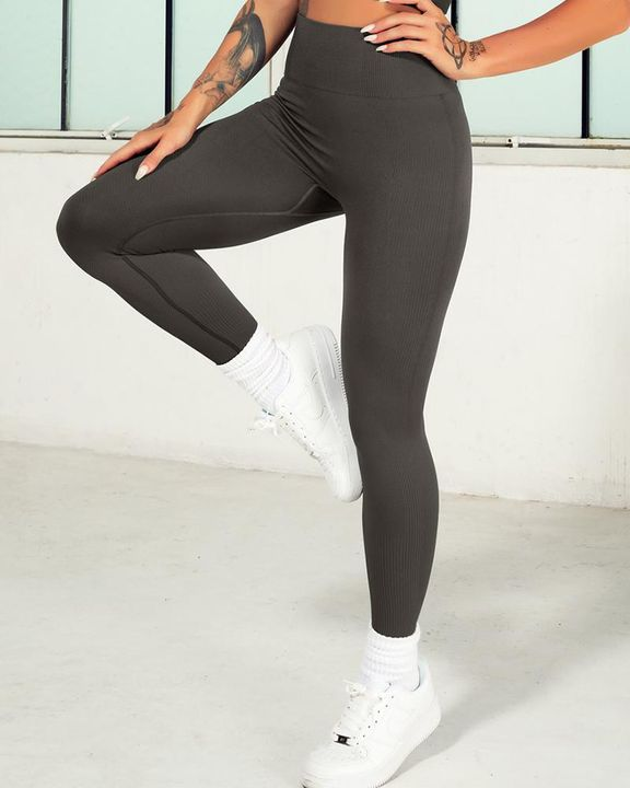 Ombre Wide Waistband Butt Lifting Sports Leggings gallery 7