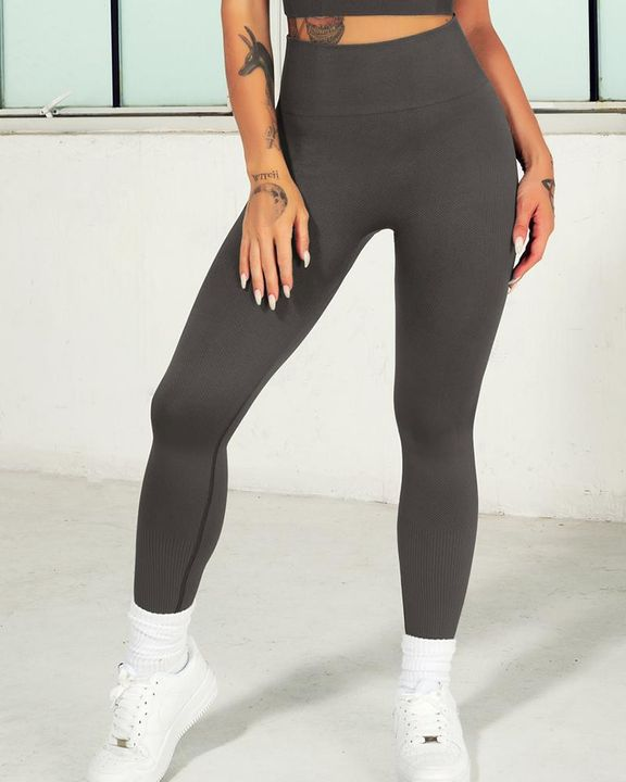 Ombre Wide Waistband Butt Lifting Sports Leggings gallery 22