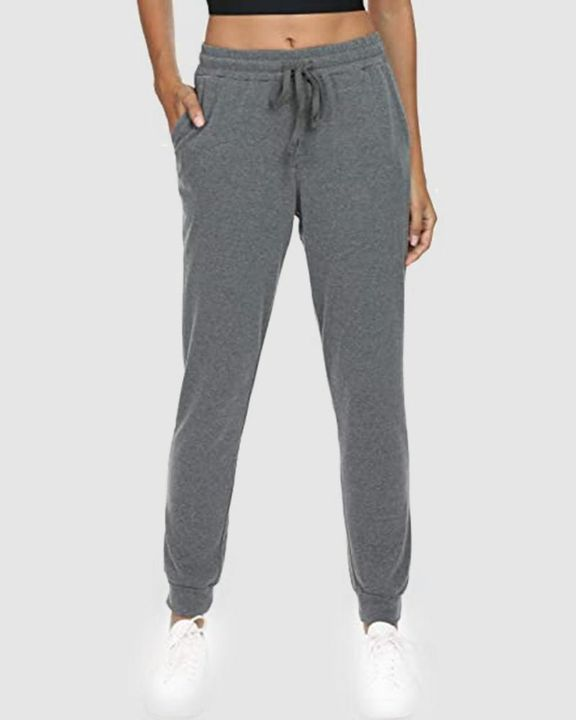 Solid Drawstring Front Pocket Detail Sports Pants gallery 1