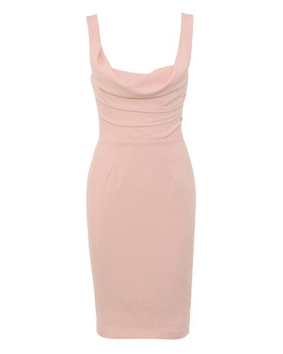 Solid Draped Split Hem Bodycon Knee Length Dress gallery 4