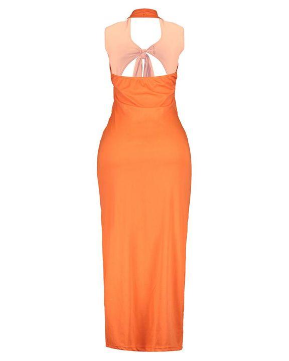 Criss Cross Cutout Self-Tie Sleeveless Maxi Dress gallery 11