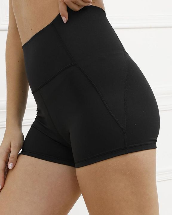 Pocket Decor Wide Waistband Butt Lifting Sports Shorts gallery 3