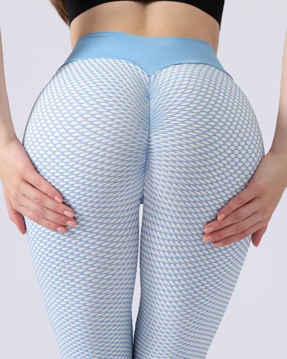 Textured Seamless Butt Lifting High Waist Sports Leggings gallery 1