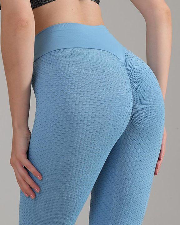 Textured Seamless Butt Lifting High Waist Sports Leggings gallery 11