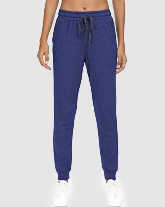 Solid Drawstring Front Pocket Detail Sports Pants gallery 6
