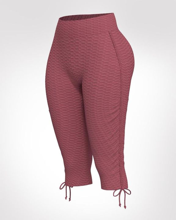 Textured Drawstring Hem Sports Shorts gallery 3