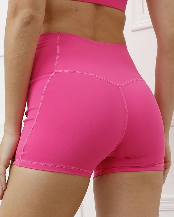 Pocket Decor Wide Waistband Butt Lifting Sports Shorts gallery 24