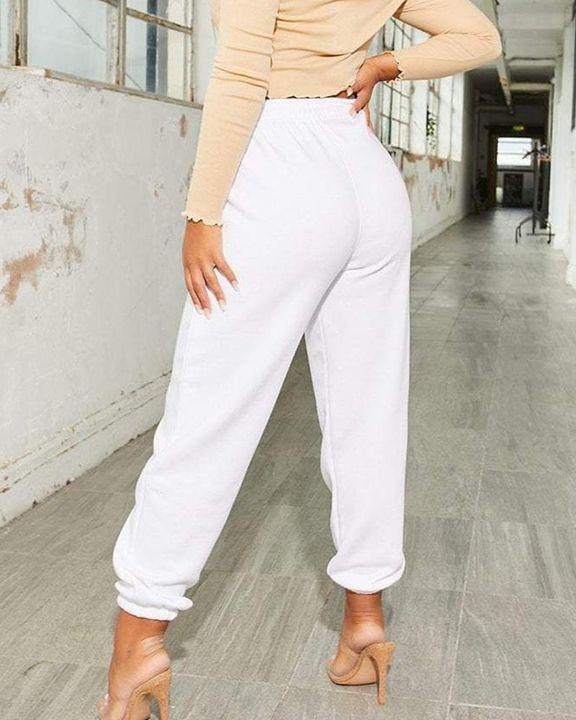 Slant Pokcet Elastic Waist Straight Leg Sports Pants gallery 9