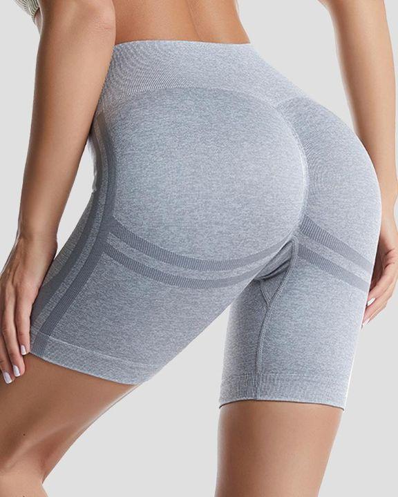 Space Dye High Waist Absorbs Sweat Butt Lifting Sports Shorts gallery 3