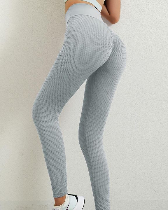 Solid Textured Butt Lifting Leggings gallery 25