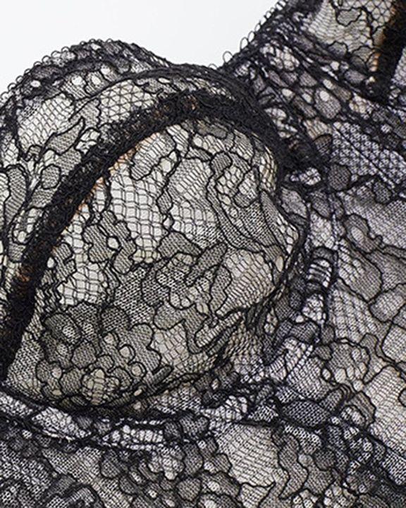 Floral Lace Steel Boned Back Cup Detail Corset Belt gallery 4