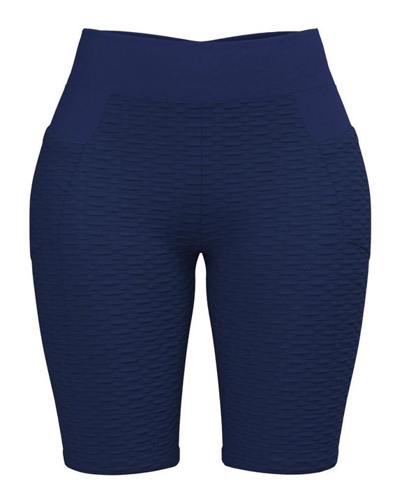 Textured Ruched Back Pocket Detail Sports Shorts gallery 7