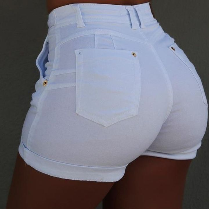 Tie Waist Roll Up Hem Pocket Detail Denim Shorts gallery 6