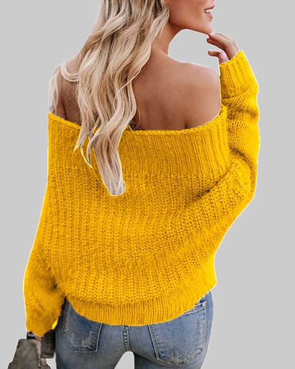 Chunky Knit Off Shoulder Sweater gallery 5