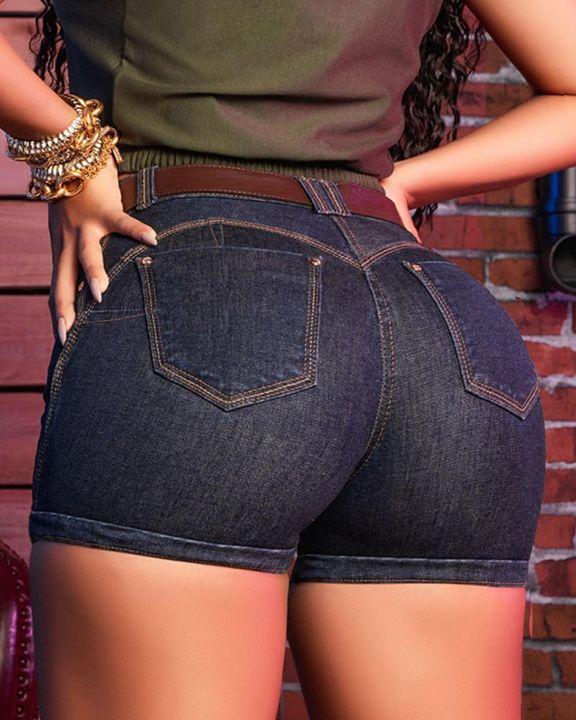 Vintage Butt Lifting Denim Shorts  gallery 2