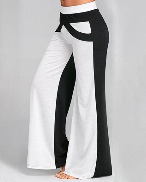 Colorbock Mid Waist Wide Leg Pants gallery 3