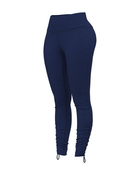 Knot Side Textured Wide Waistband Sports Leggings gallery 6