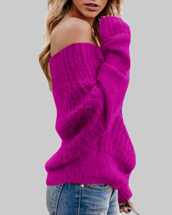 Chunky Knit Off Shoulder Sweater gallery 8