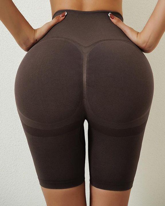 Solid Butt Lifting High Waist Sports Shorts gallery 15