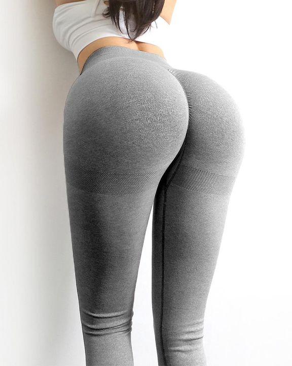 Solid Scrunch Butt High Waist Sports Leggings gallery 8