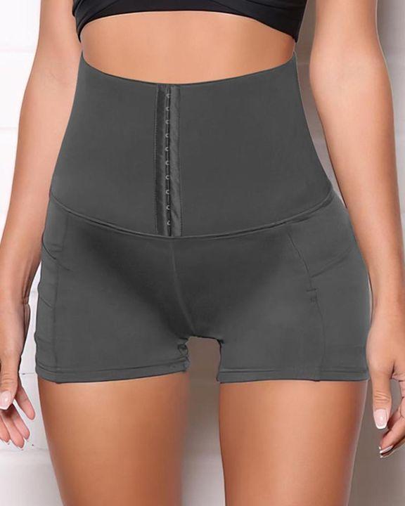 High Waist Pocket Detail Shapewear Shorts gallery 2