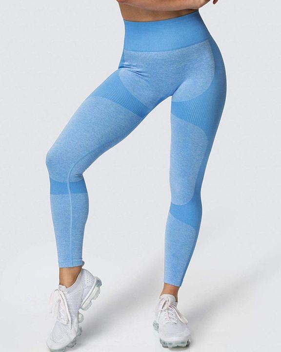 Space Dye Butt Lifting Seamless Absorbs Sweat Sports Leggings gallery 9