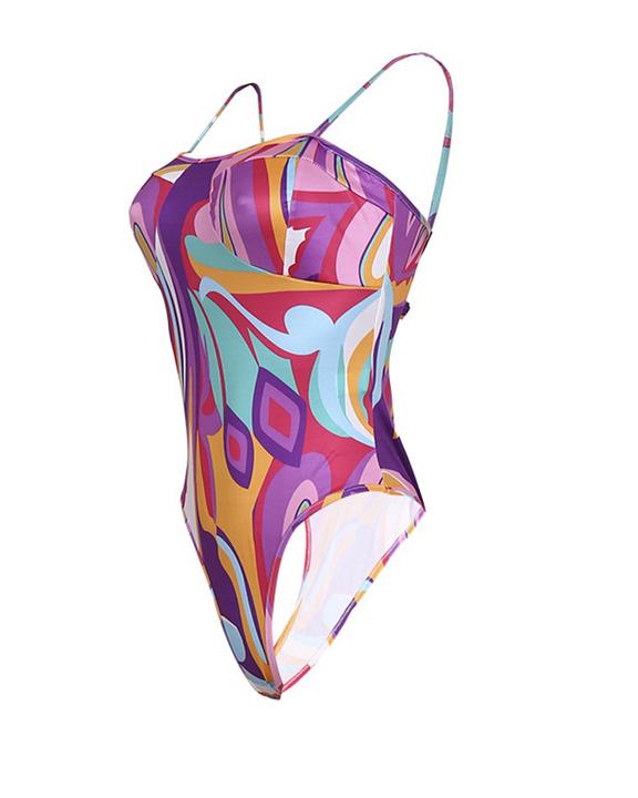 Three Way Colorblock One Piece Swimsuit & Beack Skirt gallery 11