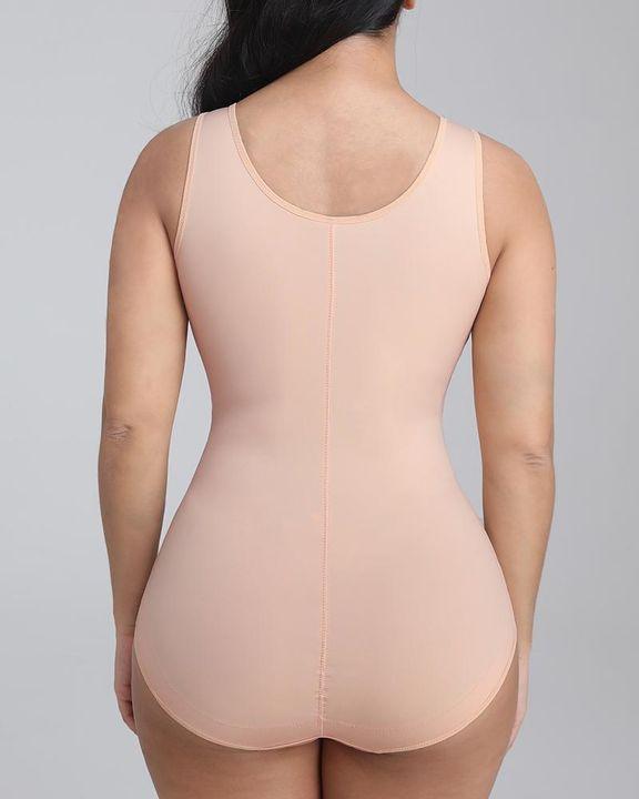 Solid Scoop Neck Shapewear Bodysuit gallery 3