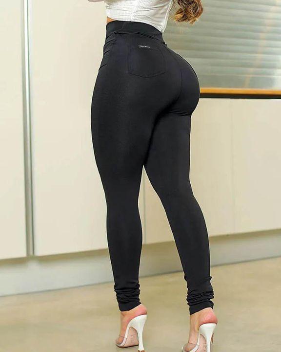 Half Zip Ruched Butt Lifting High Waist Pants gallery 4
