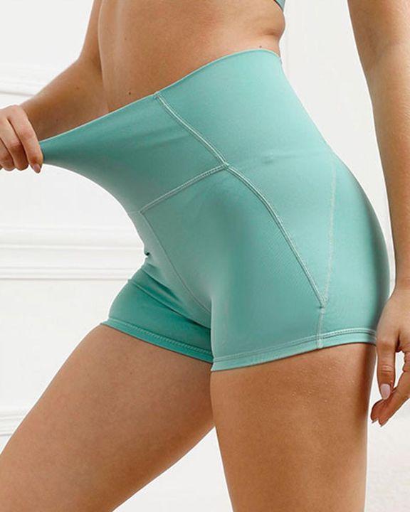 Pocket Decor Wide Waistband Butt Lifting Sports Shorts gallery 10