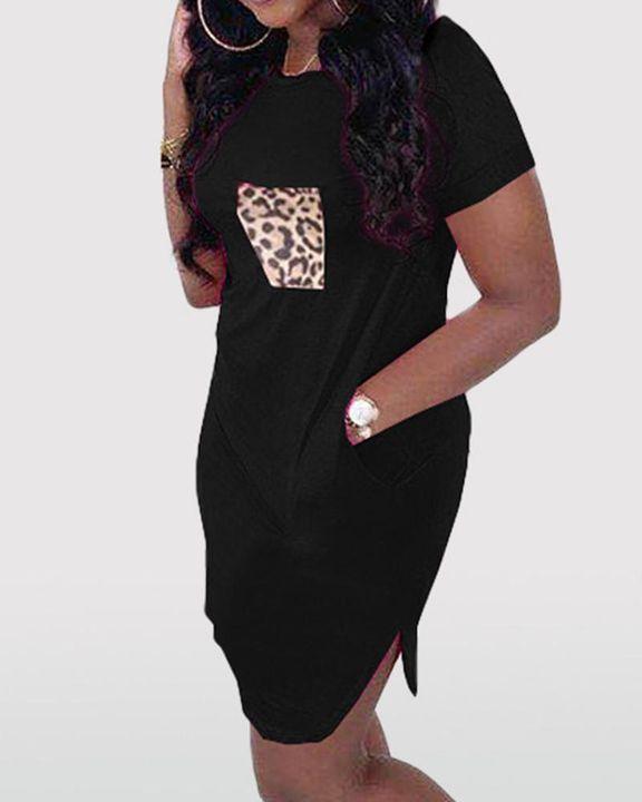 Solid Pocket Front Short Dress gallery 8
