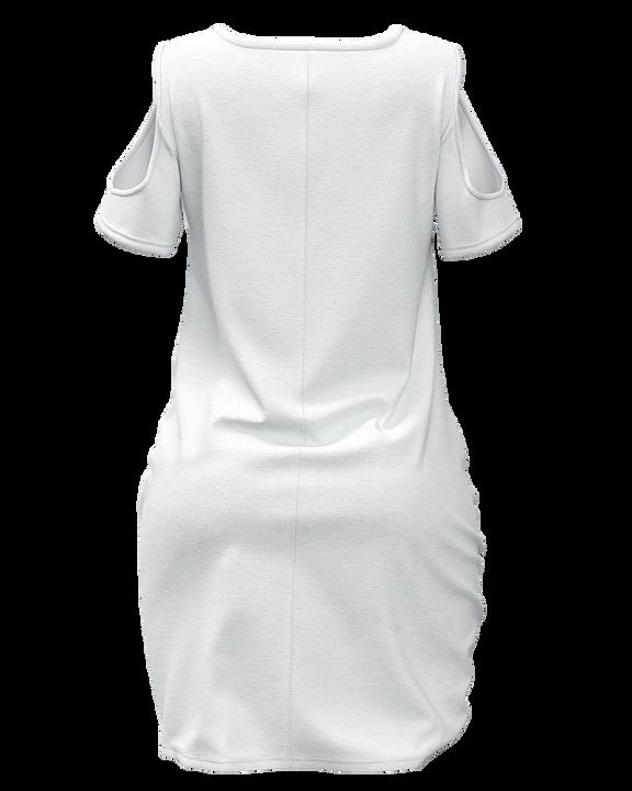 Solid Twist Cold Shoulder Short Dress gallery 9